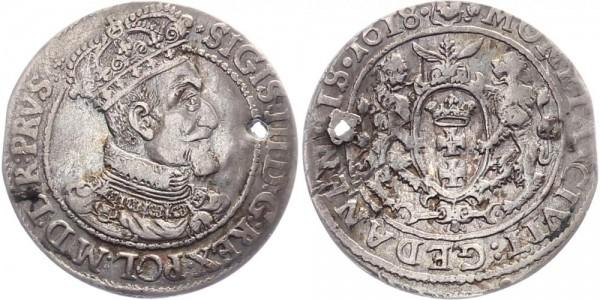 Danzig 1/4 Taler 1618 - Sigismund III.