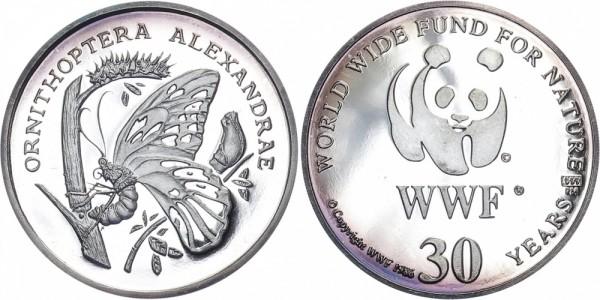 WWF Medaille 1986 - Königin-Alexandra-Vogelfalter