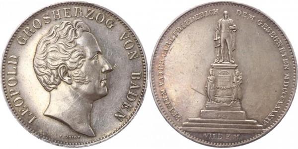 Baden Doppeltaler 1844 - Leopold