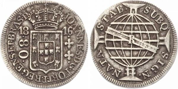 Brasilien 80 Reis 1816