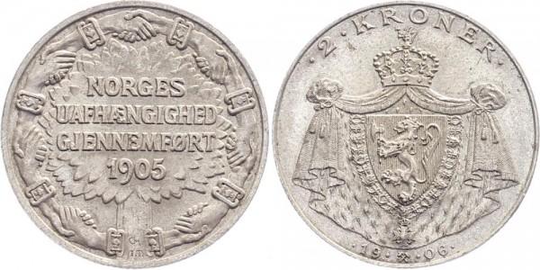 Norwegen 2 Kroner 1905 - Haakon VII.