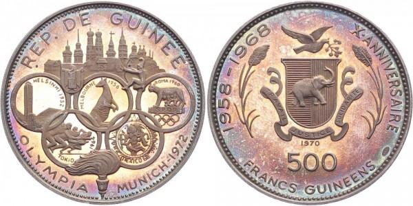 Guinea 500 Francs 1970 - Olympiade München