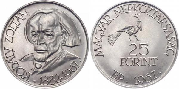 Ungarn 25 Forint 1967 Budapest 85. Geburtstag Kodaly