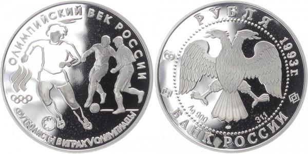 Russland 3 Rubel 1993 - Fußball