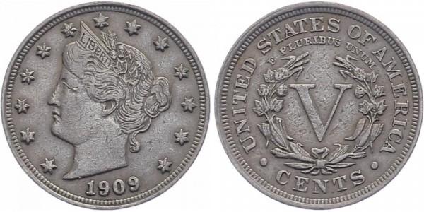 USA 5 Cents 1909