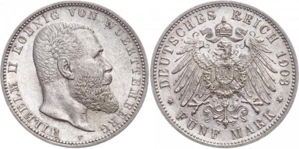 Württemberg 5 Mark 1903 - Wilhelm II.