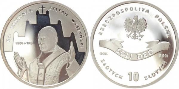 Polen 10 Zloty 2001 - Stafan Wyszynski