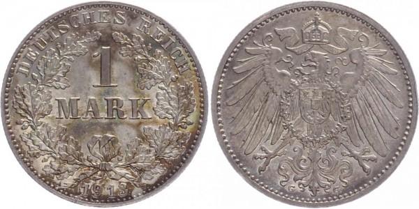 Kaiserreich 1 Mark 1913 G Kursmünze