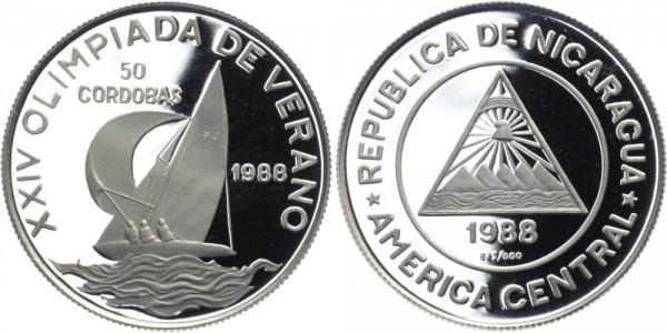 NICARAGUA 50 Cordobas 1988 - Olympiade de Verano
