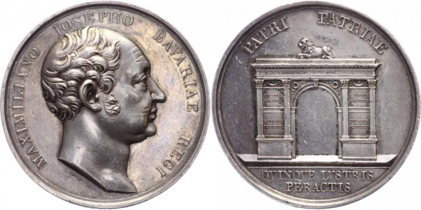 Königreich Bayern Medaille 1824 Bayern Maximilian I. Joseph ( 1806 - 1825 ); Stempel von Joseph Losc