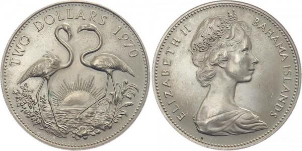 Bahamas 2 Dollar 1970 - Flamingos