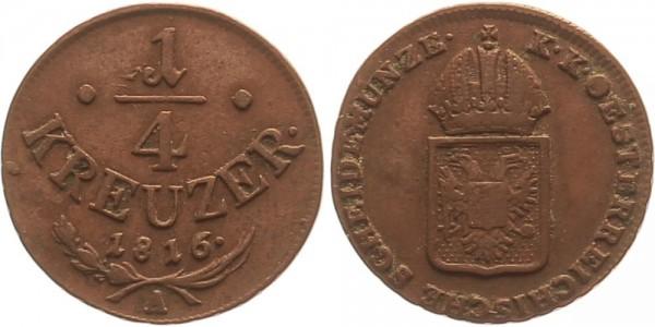 Österreich 1/4 Kreuzer 1816