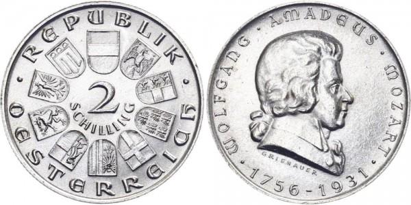 Österreich 2 Schilling 1931 - Mozart