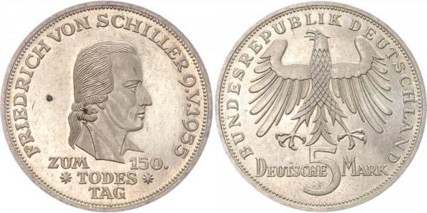 BRD 5 Mark 1955 Friedrich von Schiller