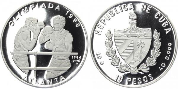 Kuba 10 Pesos 1994 - Box-Olypmiade 1996 in Atlanta