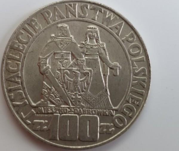 Polen 100 Zloty 1966 1000 Jahre Polen, fast vz