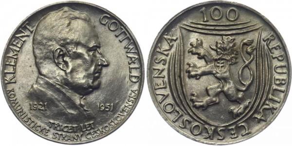 CSR 100 Kč 1951 - Klement Gottwald