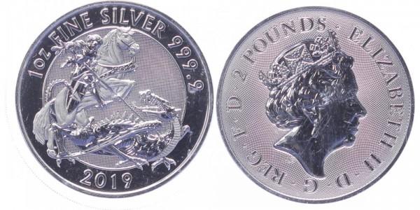 Großbritannien 2 Pounds 2019 - St. George, the valiant