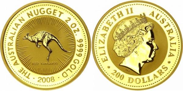 Australien 200 Dollars (2 Oz) 2008 - Kangaroo