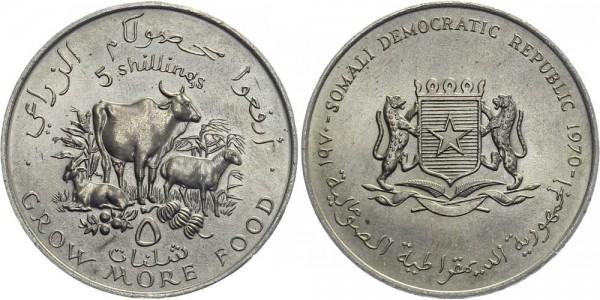 Somalia 5 Shilling 1970 - versch. Tiere