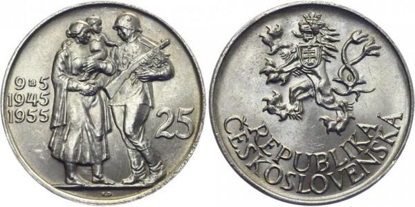 CSR 25 Kč 1955 - Befreiung von Deutschland