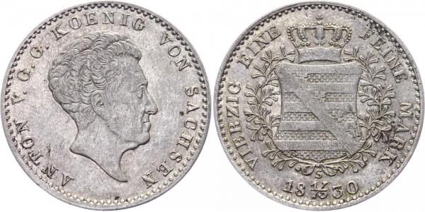 Sachsen 1/3 Taler 1830 - Anton 1827-1836