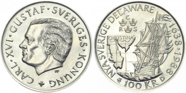 Schweden 100 Kronen 1988 - Segelschiff