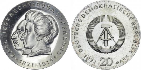 DDR 20 Mark 1971 A Liebknecht und Luxemburg