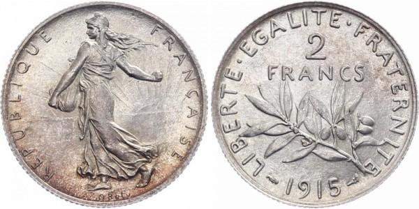 Frankreich 2 Francs 1915 - Kursmünze