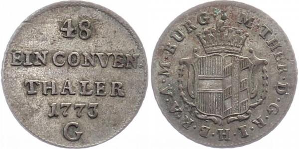 Burgau 1/48 Taler 1773 Günzburg Maria Theresia