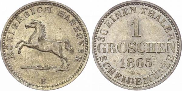 Hannover 1 Groschen 1863 B Kursmünze