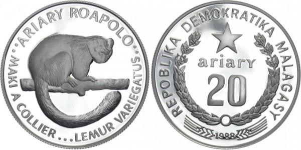 Madagaskar 20 ariary 1988 - Lemur