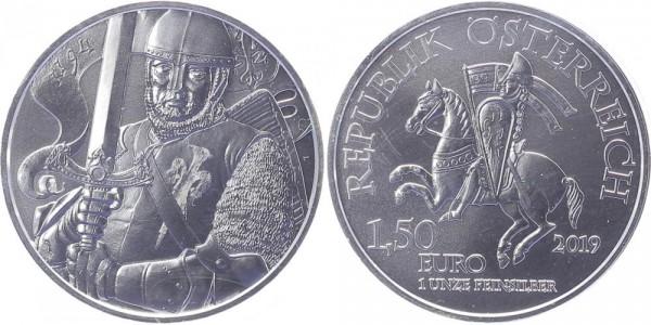 Österreich 1,50 Euro 2019 - Herzog Leopold V., Erstausgabe!