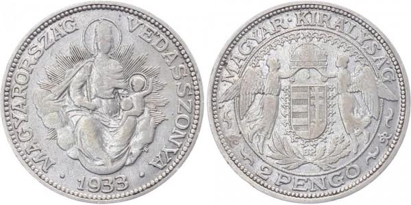 Ungarn 2 Pengö 1933 - Kursmünze