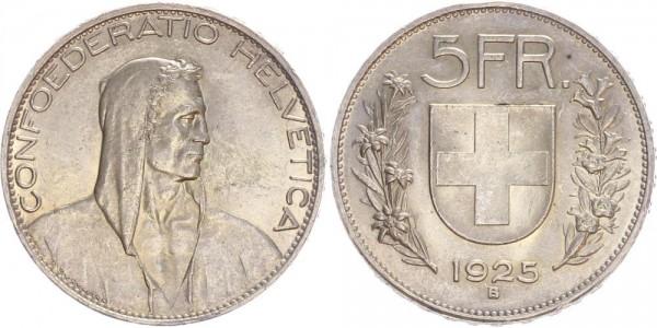 Schweiz 5 Franken 1925 B