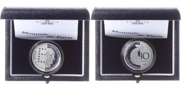 Frankreich 10 Francs 1986 - Robert Schumann