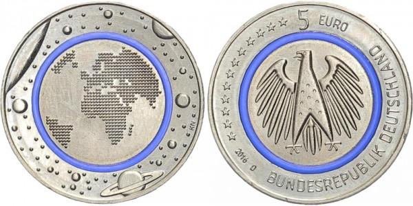 BRD 5 Euro 2016 D Blauer Planet