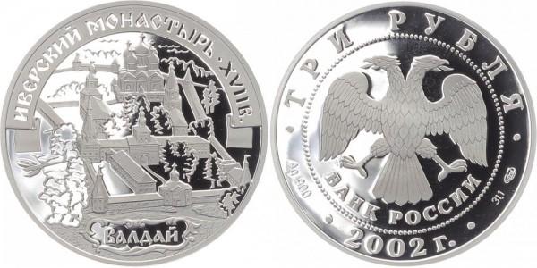 Russland 3 Rubel 2002 - Iverskij Kloster