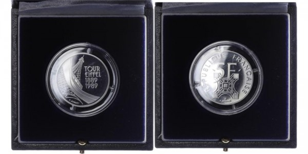 Frankreich 5 Francs 1989 - Tour Eiffel