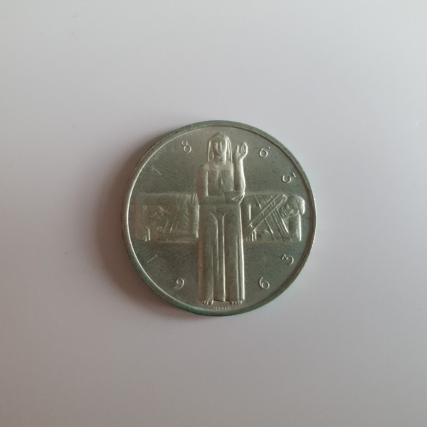 Schweiz 5 Franken 1963 B 100 Jahre Internationales Rotes Kreuz