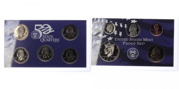 USA 1c-1 Dollar 2001 - Proof Set