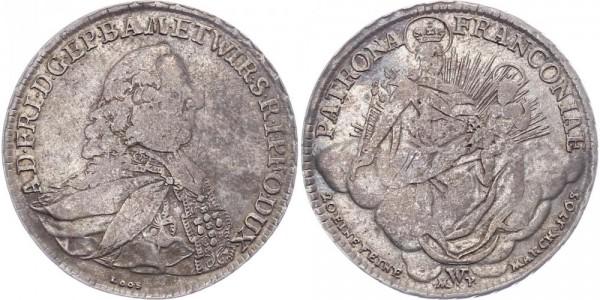 Würzburg ½ Taler 1765 - Adam Friedrich von Seinsheim