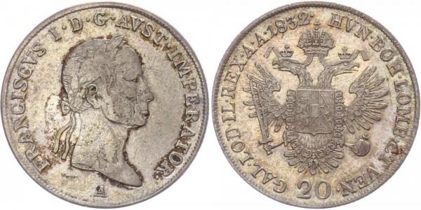 Österreich 20 Kreuzer 1832 A Franz I.