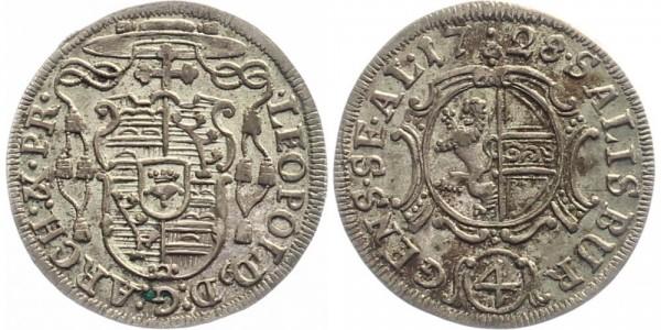 Salzburg 4 Kreuzer 1728 - Leopold Anton Eleutherius von Firmian