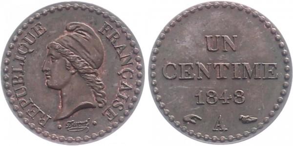 Frankreich 1 centime 1848 - Kursmünze