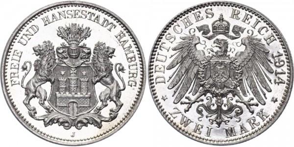 Hamburg 2 Mark 1914 - Freie und Hansestadt