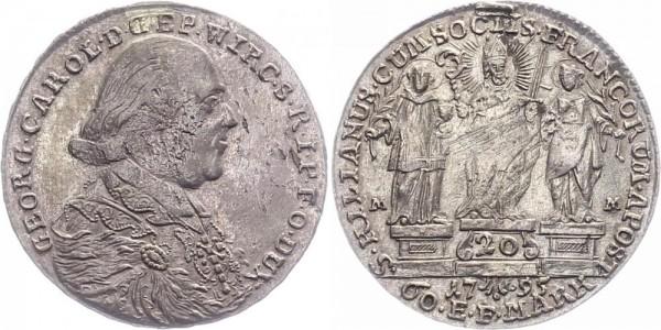 Würzburg 20 Kreuzer 1795 - Georg Karl von Fechenbach