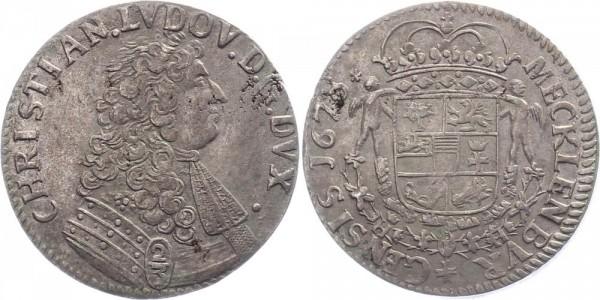 Mecklenburg 2/3 Taler 1678 - Christian I. Ludwig