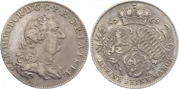 Pfalz-Sulzbach 1 Thaler 1765 - Karl Theodor