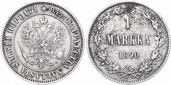 Finnland 1 Markka 1890 - Kursmünze